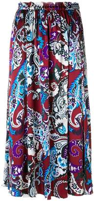 Kenzo paisley print maxi skirt