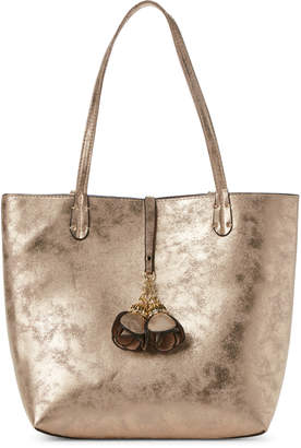 Imoshion Gold-Tone Faux Suede Ashley Tote