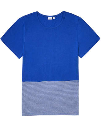 Onia Chad Colour Block Nautical Blue T-Shirt