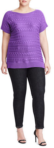 Lauren Ralph LaurenLauren Ralph Lauren Plus Plus Cable-Knit Sweater
