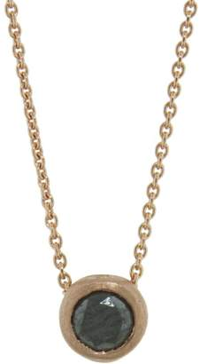 Tate Black Diamond Circle Necklace - Rose Gold