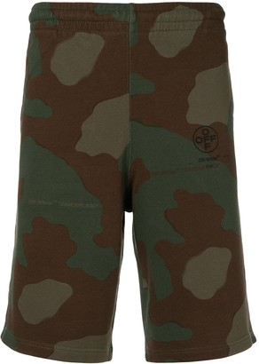 Off-White camouflage track shorts