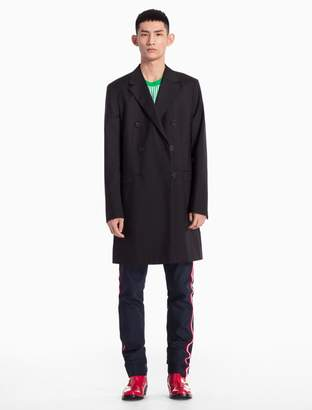 Calvin Klein wool mohair double breasted coat
