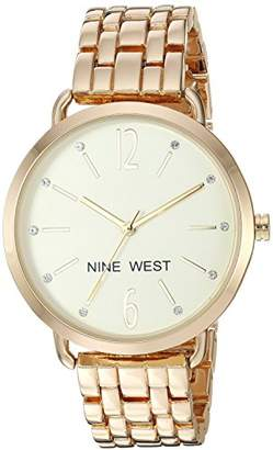 Nine West Women's Quartz Stainless Steel and Alloy Dress Watch