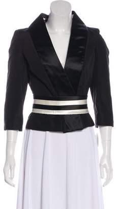 Alexander McQueen Silk Cropped Jacket w/ Tags