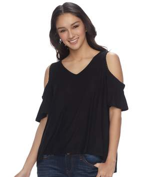 Mudd Juniors' Cold Shoulder High-Low Top