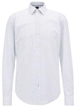 BOSS Hugo Soft Cotton Shirt, Sharp Fit Robbie XXL Light Blue