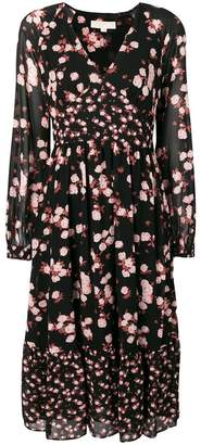 MICHAEL Michael Kors floral long-sleeve dress