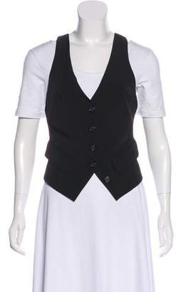 Elizabeth and James Solid Button-Up Vest