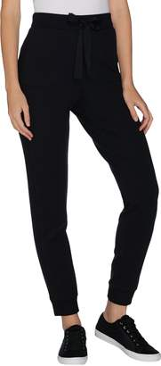Logo By Lori Goldstein LOGO by Lori Goldstein Ponte Jogger Pant with Rib Details