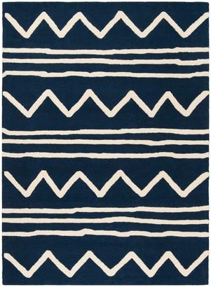 Safavieh Kid's Zigzag Hand-Tufted Wool Area Rug