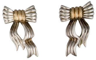 Tiffany & Co. Two-Tone Bow Earrings $345 thestylecure.com
