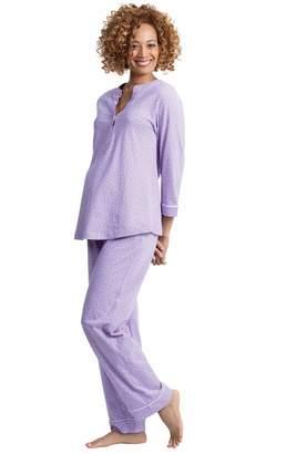 4f5b70dea5e6c PajamaGram Women's Nursing Pajamas Soft - Maternity Sleepwear, Purple, 1X,  ...