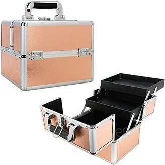 Ver Beauty 2-Tiers Extendable Trays Makeup Train Case - VK006