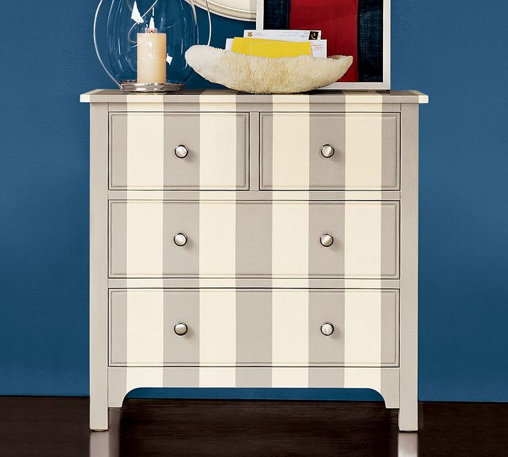 Somerset Striped Hand Painted Cabinet