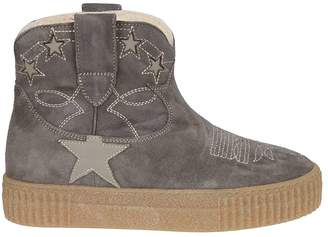 Golden Goose Embroidered Ankle Boots