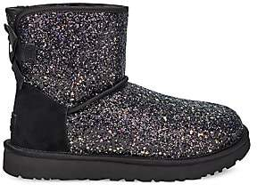 UGG Women's Classic Mini Cosmos Bow Sheepskin-Lined Boots