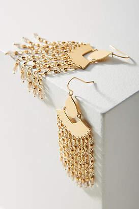 Anthropologie Meilani Fringed Drop Earrings