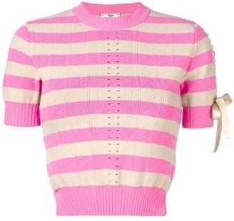 Fendi striped short-sleeve top