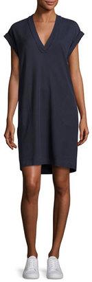 ATM Anthony Thomas Melillo Pique Pima Shift Dress, Navy $225 thestylecure.com