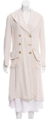 Halston Lightweight Double-Breasted Coat