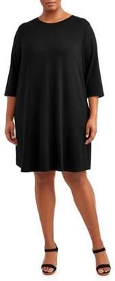 81221d922f42d Terra   Sky Women s Plus Size Long Sleeve Knit Dress with ...