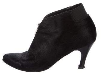 Louis Vuitton Ponyhair Pointed-Toe Booties