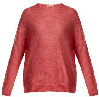 Masscob Dropped Shoulder Mohair Blend Sweater - Womens - Pink