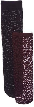 Emilio Cavallini 2Pk Leopard Trouser Socks