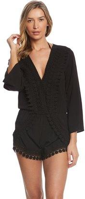 La Blanca Costa Brava Bell Sleeve Romper 8154665 $95 thestylecure.com