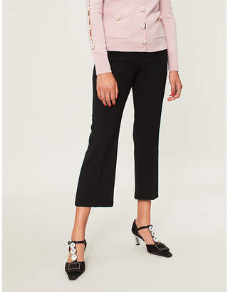 Altuzarra Cropped high-rise crepe trousers