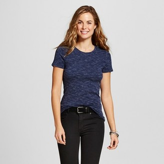 Merona Women's Heather Fitted Crew T-Shirt $8 thestylecure.com