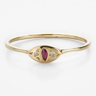 Cat Eye Scosha Ring Ruby, Diamond, Gold