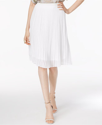 Grace Elements Pleated A-Line Skirt $60 thestylecure.com