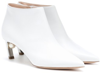 Nicholas Kirkwood Mira Pearl 55mm leather ankle boots