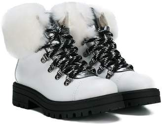 Andrea Montelpare faux fur trimmed boots