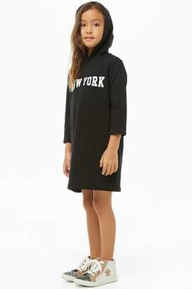 Forever 21 Girls New York Graphic Hooded Dress (Kids)