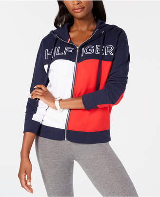 Tommy Hilfiger Logo Heritage Zip-Front Hoodie, Created for Macy's