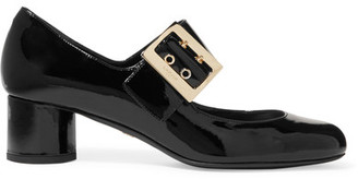 Lanvin - Patent-leather Mary Jane Pumps - Black $750 thestylecure.com