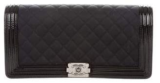 Chanel Quilted Boy Long Clutch