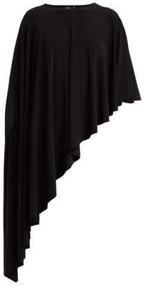 Norma Kamali Diagonal Stretch Jersey Shawl - Womens - Black