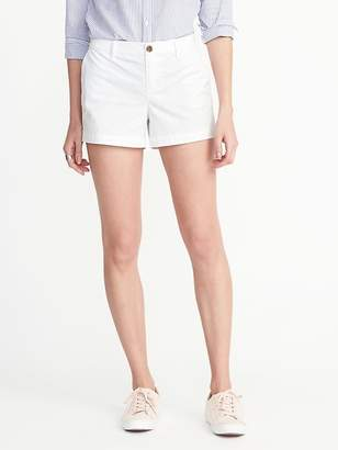 "Old Navy Mid-Rise Everyday White Shorts for Women (3 1/2"")"