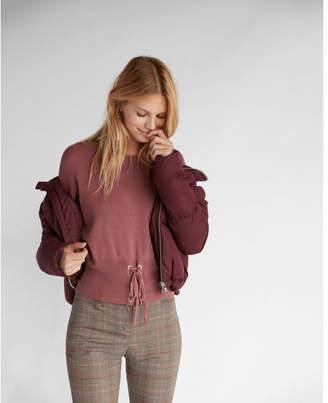 Express corset puff sleeve sweater