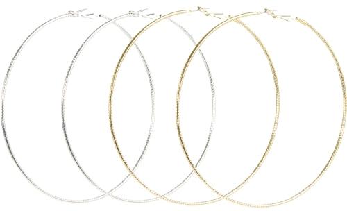 Textured Hoop Earring Duo