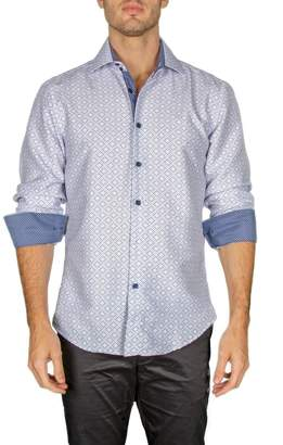 Bc Collection Patterned Contrast Trim Modern Fit Shirt