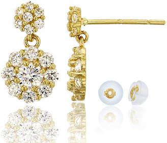 FINE JEWELRY 1 CT. T.W. White Cubic Zirconia 14K Gold Round Drop Earrings