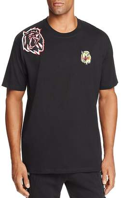 Versace Lion Patches Crewneck Short Sleeve Tee