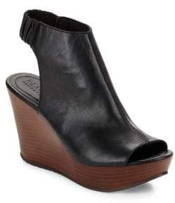 Kenneth Cole REACTION Sole Chic Leather Slingback Wedge Sandals $89 thestylecure.com