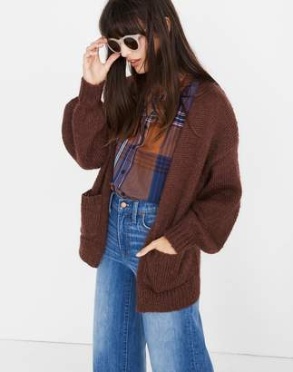 Madewell Balloon-Sleeve Cardigan Sweater