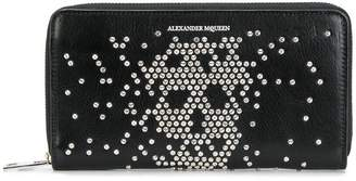 Alexander McQueen abstract skull stud wallet
